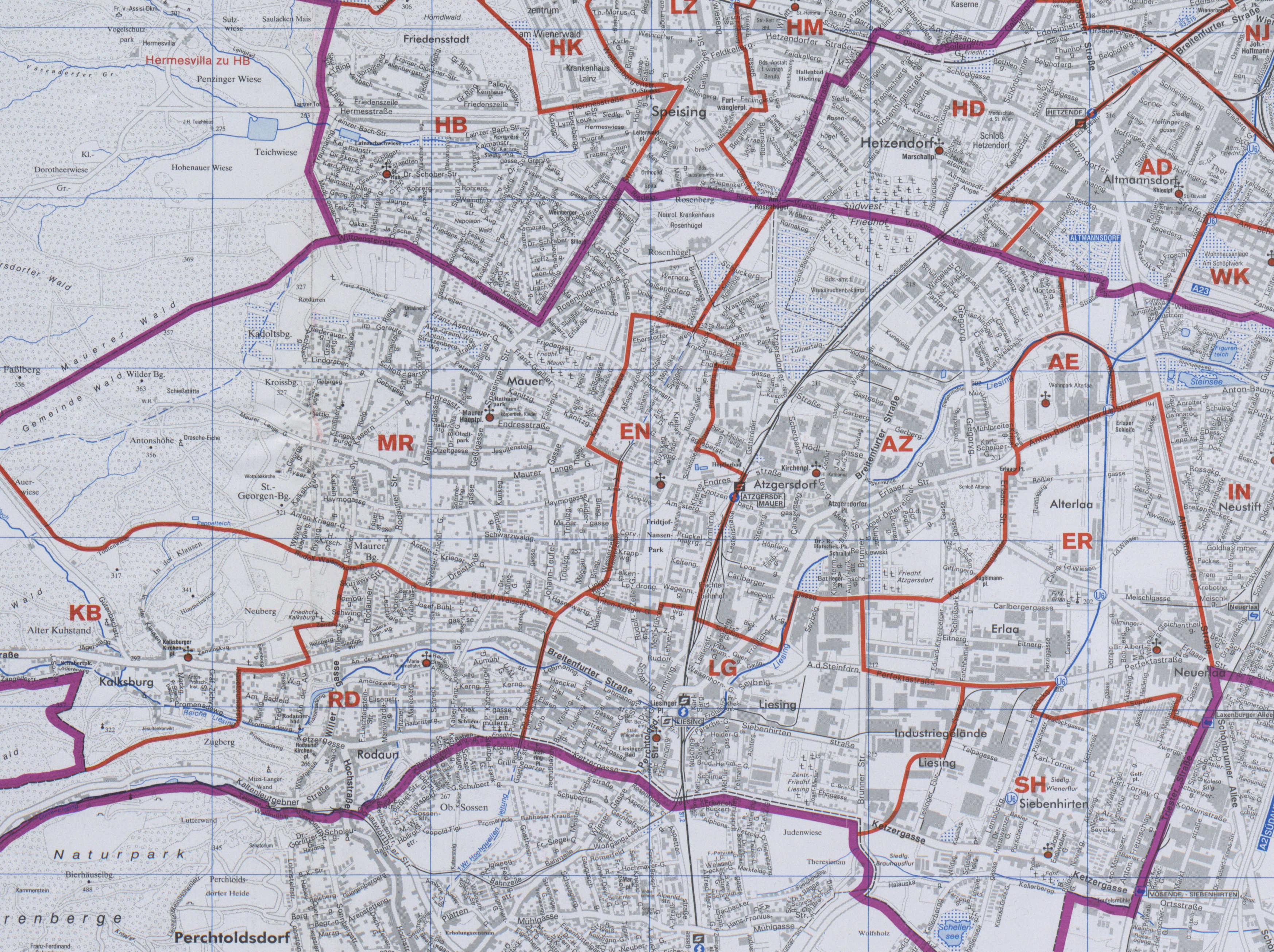 Karte Wien Niederosterreich.23 Atzgersdorf Wien Rk Erzdiozese Ostl