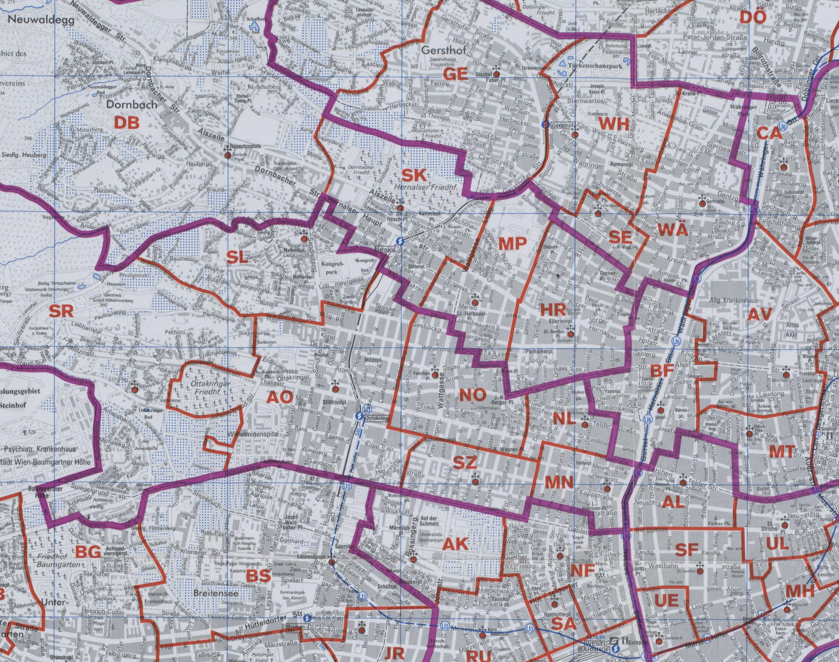 Karte Wien Niederosterreich.17 Hernals Wien Rk Erzdiozese Ostl Niederosterreich