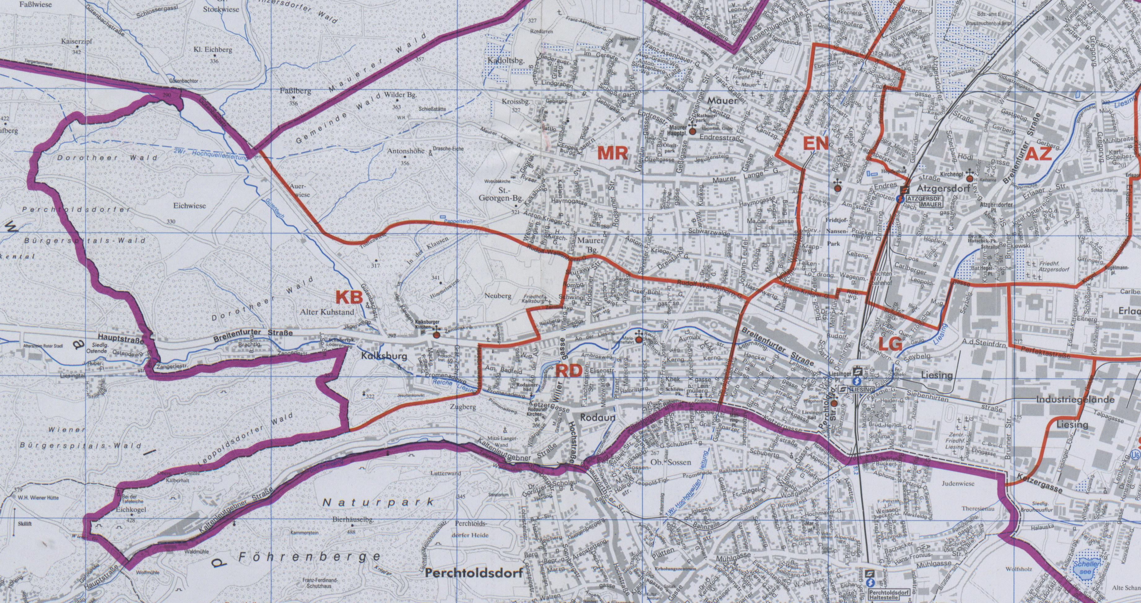 Karte Wien Niederosterreich.23 Kalksburg Wien Rk Erzdiozese Ostl