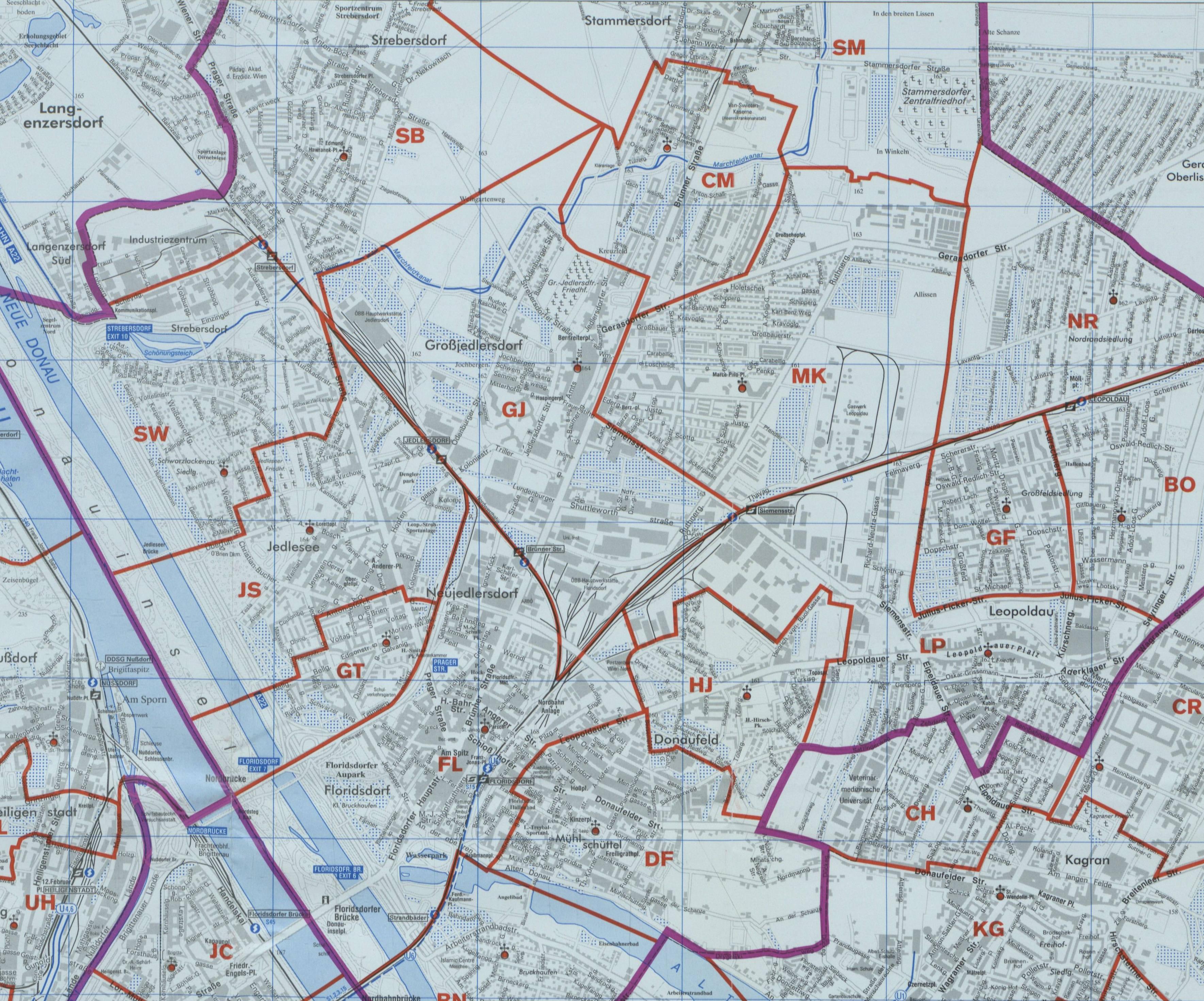 Karte Wien Niederosterreich.21 Leopoldau Wien Rk Erzdiozese Ostl